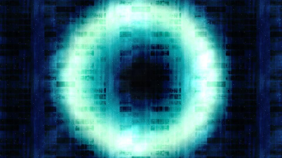 青い円の膜