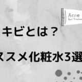 黒ニキビとは?【オススメ化粧水3選・原因・予防と治し方を紹介!】