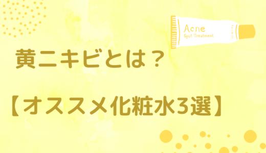 黄ニキビとは?【オススメ化粧水3つ・原因・予防と治し方を紹介!】