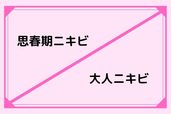 思春期ニキビ・大人ニキビ