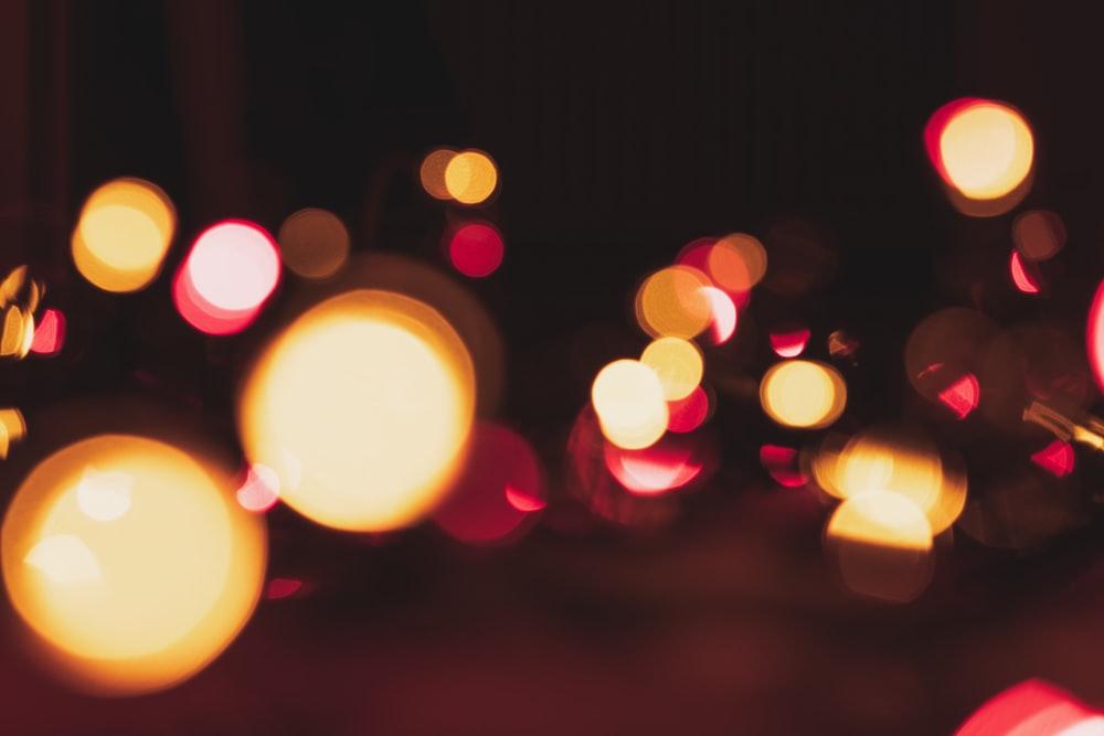 複数の丸い光