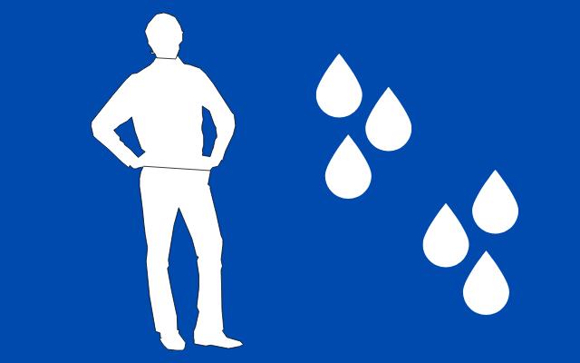 男性の水分量を表す
