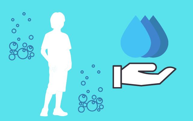 男性の水分を表すイラスト