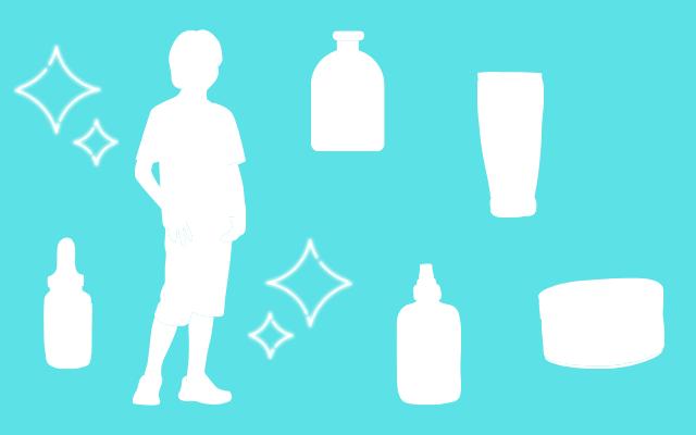男性にオススメな洗顔料のイラスト