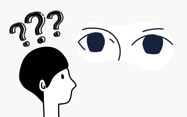 眉毛に悩む男性