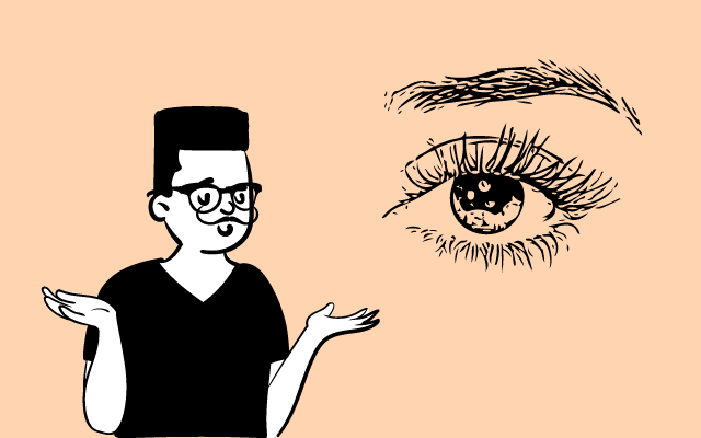 眉毛について悩む陰キャラ男子