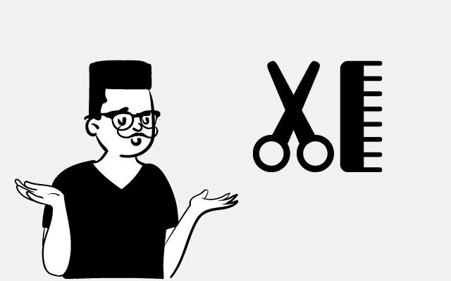 陰キャ大学生が髪を切るか迷う様子