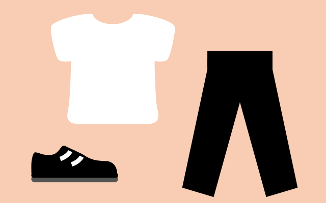 シンプルなファッション