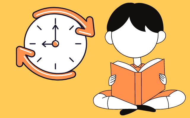 ぼっち学生が休み時間本読んでいる